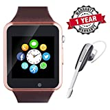 Raptas Unisex A1(Gold) Smart Watch Touch Screen with Sim/Memory Card Slot, Camera