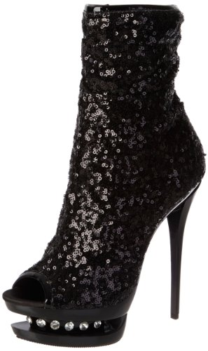 Femme Noir Doublure Sequins Bottines R sans Black Blondie Pleaser Black 1008 HYw4qFWA