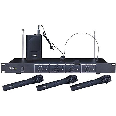 Ibiza VHF4 - Micrófono inalámbrico, color negro