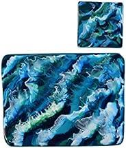 Tovagliette con resina Oceano ispirato Arte