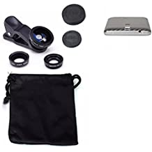 3in1 Elephone P8000 4G Obiettivo Lente 180° Fisheye, Gran Angular 0.67x, Macro amplicación Len negro - K-S-Trade