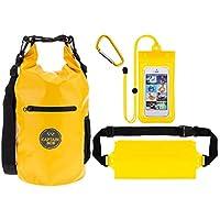 Captain Bob Waterproof 10L Dry Bag with 4 Bonuses! - Yellow
