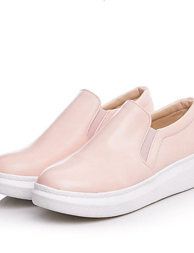 ZQ Scarpe Donna - Mocassini - Tempo libero / Casual - Comoda / Punta arrotondata - Piatto - Finta pelle - Nero / Blu / Rosa , pink-us10.5 / eu42 / uk8.5 / cn43 , pink-us10.5 / eu42 / uk8.5 / cn43 pink-us6.5-7 / eu37 / uk4.5-5 / cn37