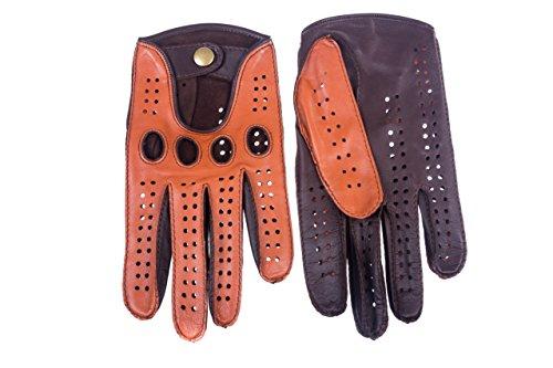 Hungant Autofahrer Handschuhe Leder Lammleder Kork Braun By (9.5, Kork Braun)