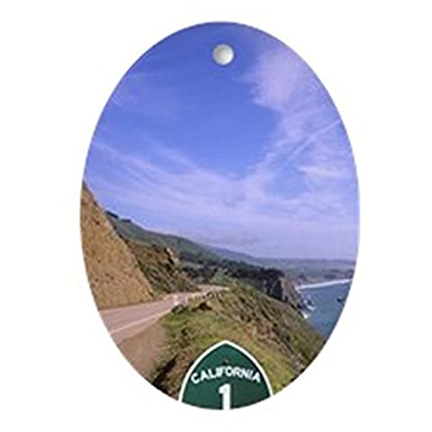 CafePress - Pacific Coast Highway California Rou - Oval Holiday