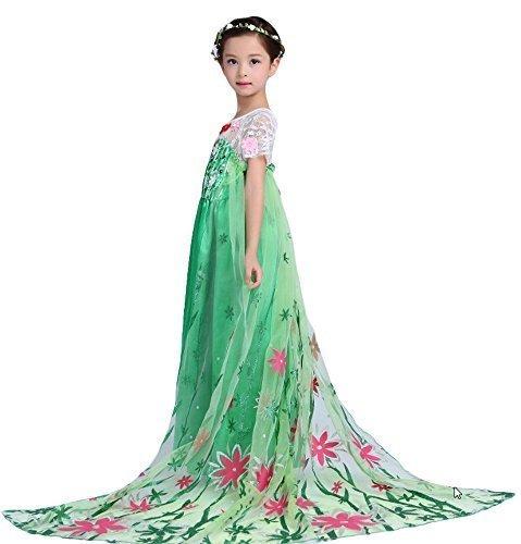 Kostüm Königin Schnee Anna Kleid Kinder Maskerade (110 (2/3 Jahre)) (Schnee Königin Prinzessin Kleid Kostüme)