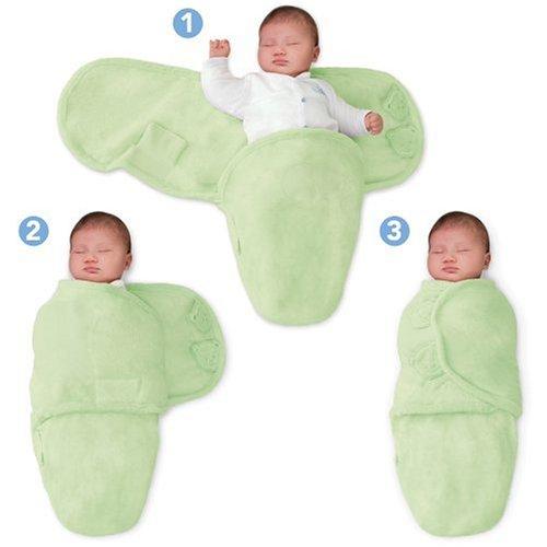 SwaddleMe 10512 - Neugeborenes/Baumwolle - Ganzkörper-Pucksack ist ideal bei Schreibabys Small grün