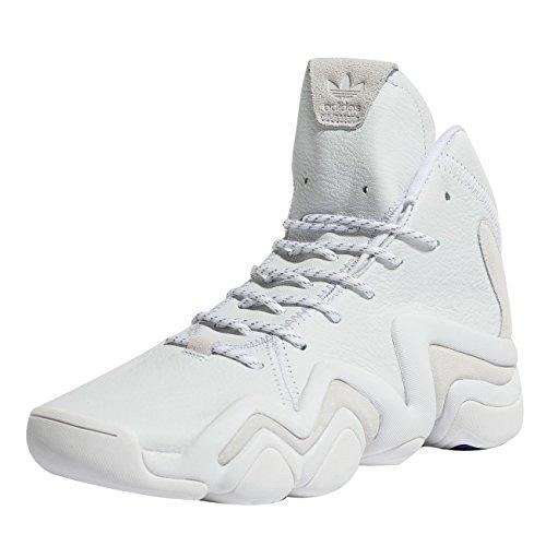 adidas Crazy 8 ADV (Asw), Chaussures de Fitness Homme, Multicolore-Blanc/Violet (Ftwbla/Ftwbla/Purrea 000), 43 1/3 EU