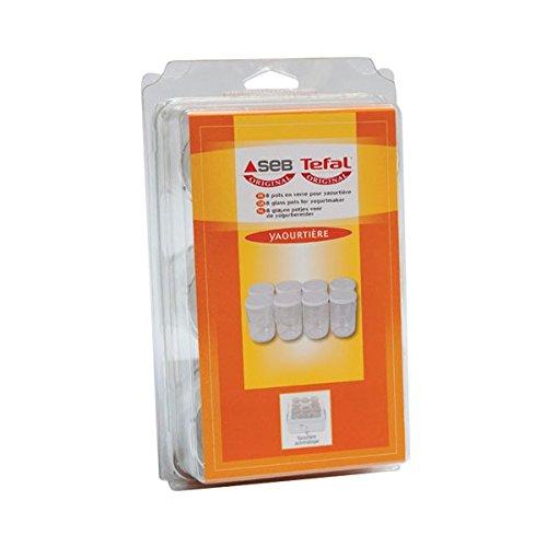 Seb 989641 - Juego de botes con tapa para yogurtera (8 unidades)