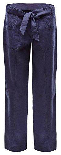 Marine piscine Philine Linen Décoration Trousers Pantalon pour femme Bleu - bleu marine
