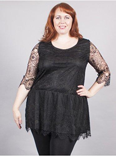 Vêtement Femme Grande Taille Robe Noire Dentelle Noir