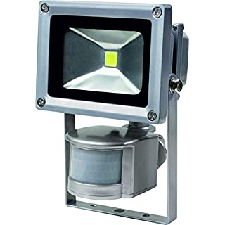 As-Schwabe Chip LED Solar Spotlight with Motion Sensor, 10 W Battery for Industry/Construction Sites, outdoors, 46977