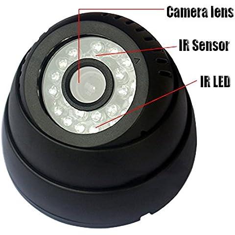 Ckeyin ® USB Digital IR Noche Vision Cámaras en domo de vigilancia de seguridad 24 LED con Fuente de alimentación
