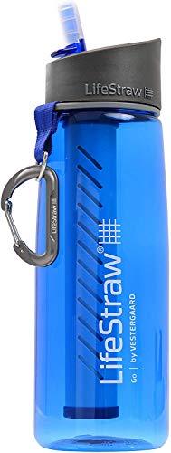 Bottiglia filtrante LifeStraw Go con cannuccia filtrante integrata. Rimuove batteri e protozoi. Perfetto per Escursionismo Campeggio Viaggi Sport