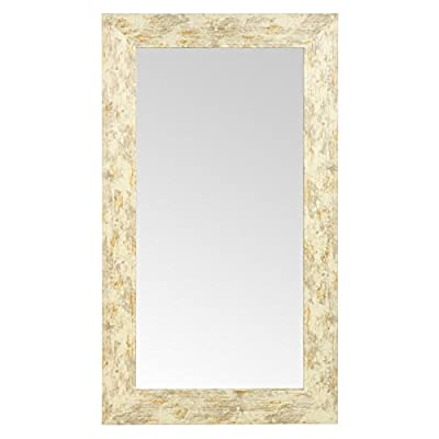 Large Wall Mountable Glass Mirrors with Wood Frames - Choice of Colour & Size - inexpensive UK light shop.