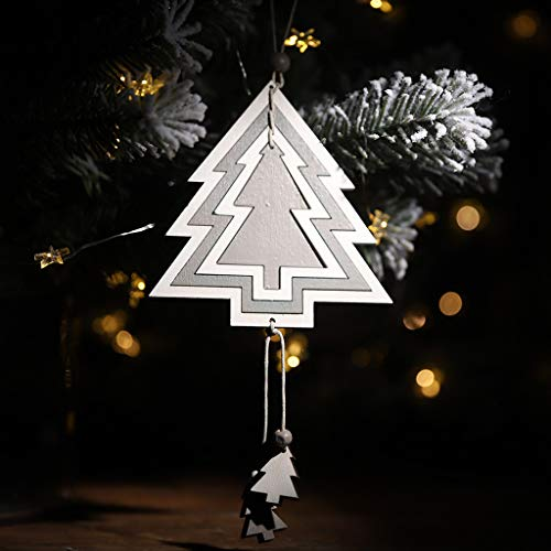 41JHB9sx3 L. SS500  - Y56 Christmas Wooden Four-Layer Hollow Pendant Creative Cute Hanging Pendant