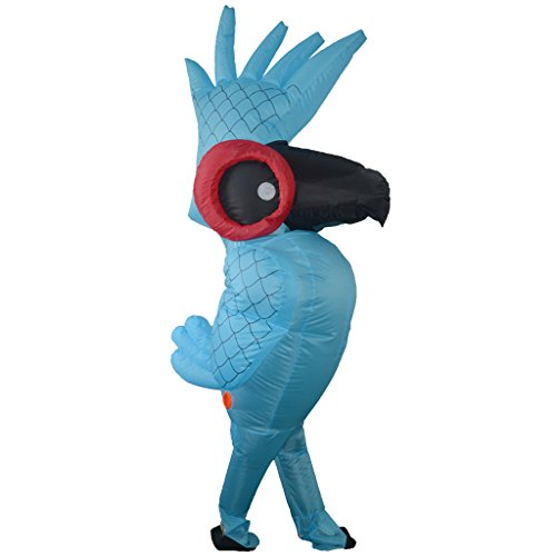 Parrot Erwachsene Für Kostüm - FLAMEER Aufblasbares Kostüm Für Erwachsene Parrot Halloween Birthday Festival Unisex Outfit