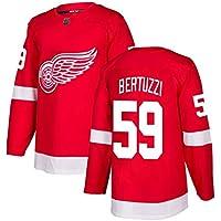 Bertuzzi # 59 Camiseta de Hockey sobre Hielo Manga Larga para Hombre Ropa de Deporte de Hockey sobre Hielo Equipo de competición Uniforme de Entrenamiento Jersey de fanático Jersey Real Rojo S-XXXL