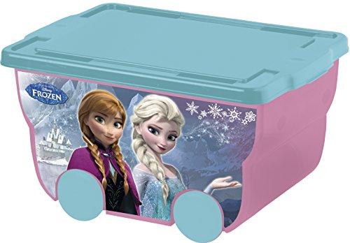 Disney frozen contenitore portagiochi con ruote 55 litri