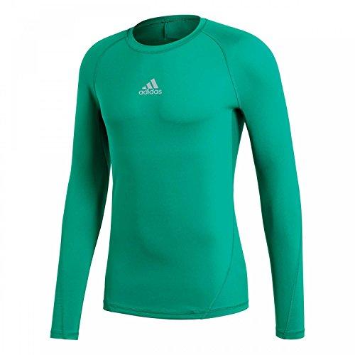 adidas Herren Alphaskin LS Tee Shirt, Bold Green, M (Herren Tee Grüner)