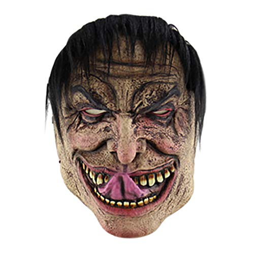Coole Up Licht Kostüm - Masrin Halloween Cosplay Scary Mask Kostüm Adult Party Dekoration Requisiten leuchtende Maske (Mehrfarbig)