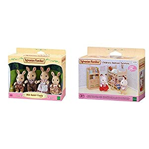 SYLVANIAN FAMILIES Milk Rabbit Family Mini muñecas y Accesorios, (Epoch para Imaginar 4108) + Children