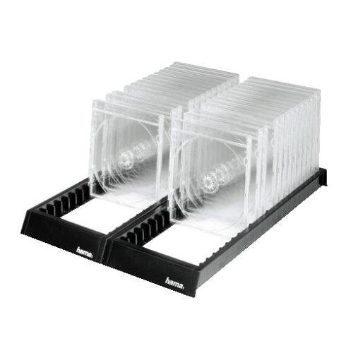 Hama CD Ständer Archivierungssystem (für 44 CD-Leerhüllen, CD Rack zur Aufbewahrung, Organizer rutschfest) schwarz -