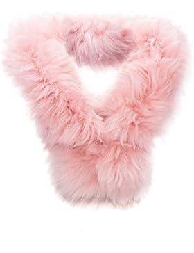 Bufanda en piel de cordero. Color rosa. Medidas: 80x8 cms. Cálida y elegante.