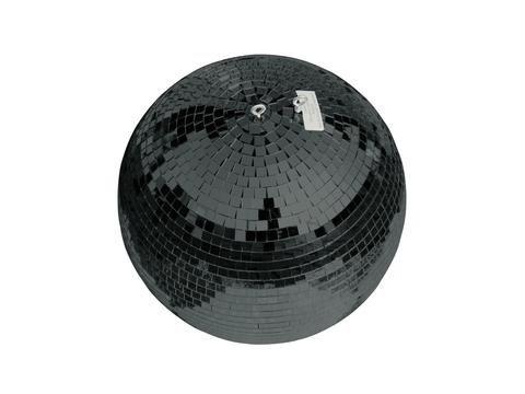 showking Discokugel Noir mit Echtglasfacetten, Ø 30 cm, schwarz - dunkle Spiegel Kugel - Disco Ball