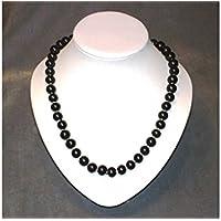 Schungit Halskette, mit 9mm. Perlen, poliert, 60cm, lang,100g,mit ZERTIFIKAT! preisvergleich bei billige-tabletten.eu