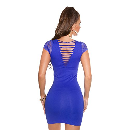 In - Stylefashion - Robe - Robe d'été - Manches Courtes - Femme Bleu - Bleu