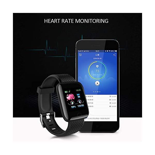 LEEBA Reloj Pulsera Inteligente, rastreador de Actividad física,Pantalla a Color Ritmo cardiaco Presión sanguínea… 8