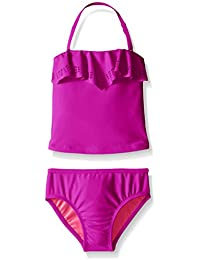 Jessica Simpson Little Girl's Toddler Two Piece Ruffle Tankini Swimsuit