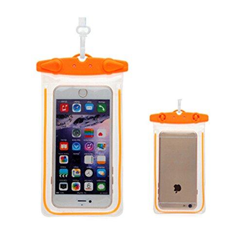 Orange,Etanche étui de téléphoneCellulaire à secSac pochette pour /Light