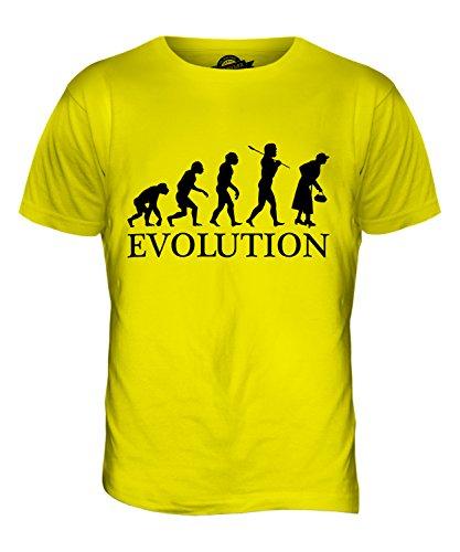 CandyMix Ältere Frau Evolution Des Menschen Herren T Shirt Zitronengelb
