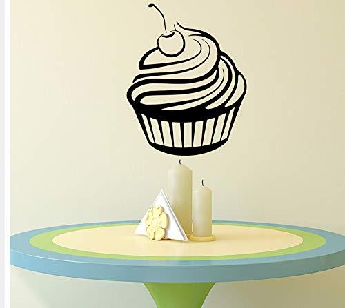 Zxfcczxf Köstliche Kuchen Wandaufkleber Vinyl Kunst Cafeteria Schlafzimmer Home Decor Removable Home Decoration Wandkunst Aufkleber 56 * 70Cm