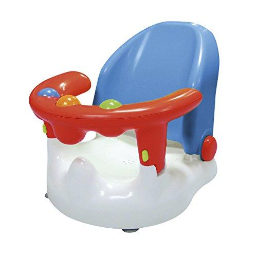 SARO – Baby-Badewannensitz mit verstellbarer Rückenlehne und mehreren Sitzpositionen Mit starken Saugnäpfen, ergonomisch geformter Rückenlehne und Öffnung an der Vorderseite. (blau)