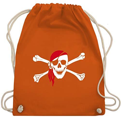 Piraten & Totenkopf - Totenkopf Pirat Kopftuch - Unisize - Orange - WM110 - Turnbeutel & Gym Bag -
