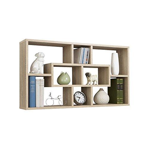 Wandregal, Regal 'Zero' - in Buche Nachbildung in 85x47,5x16 cm, Arbeitszimmer, Büro,...