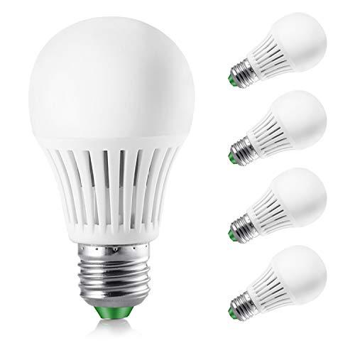 Elrigs LED Lampe dimmbar, 7W ersetzt 60W, E27, Warmweiß(3000 Kelvin), 4er Pack