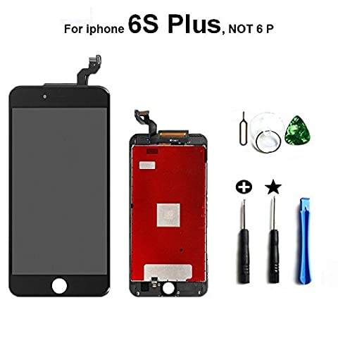 iPhone 6S Plus LCD Display Touch Digitizer Screen Replacement Assembly with Tool Ki (black)