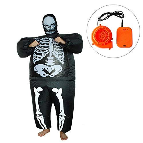 iBaste_top Skelett Mann Halloween Kostüm Aufblasbare Rave Party Zubehör Horror Aufblasbare Kleidung Geist Festival
