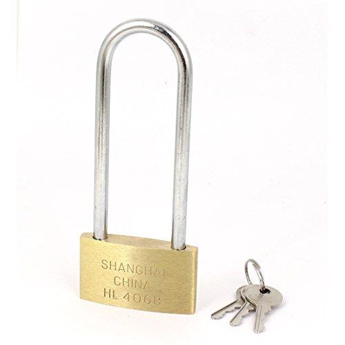 Per Garage, 60 mm, larghezza lucchetto in ottone ad arco lungo, 3 chiavi - Arco Di Blocco