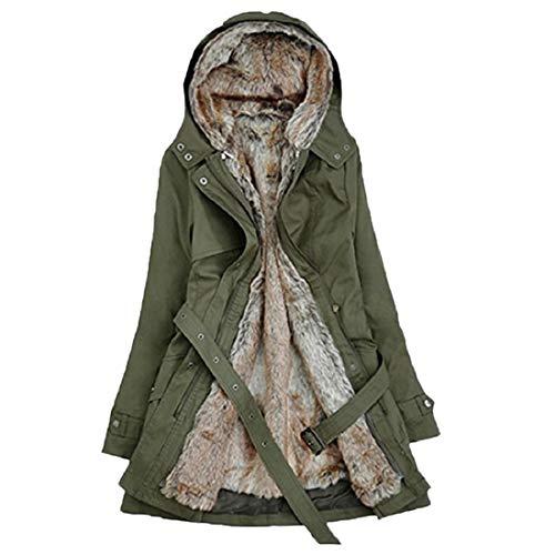 PAOLIAN Damen Mantel Winterjacke,Frauen Winter warme Kapuzen Mantel Parka Lange Jacke Mantel Outwear Strickjacke Outdoor Mantel