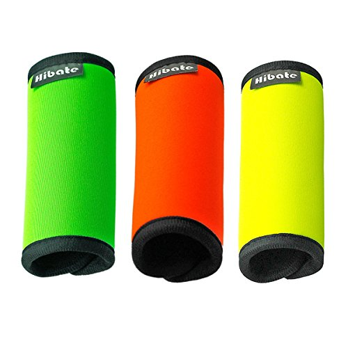 hibate-comfort-neoprene-luggage-handle-wraps-suitcase-grips-tag-fluorescent-colour-pack-of-3