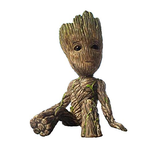 Anime Groot Figura Guardianes de la Galaxia 2 Árbol Hombre Bebé Sentado Ver Coleccionable Modelo Juguetes