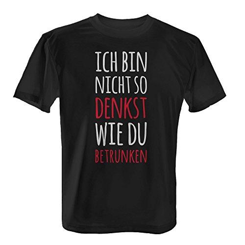 Fashionalarm Herren T-Shirt - Ich bin nicht so denkst wie du betrunken | Fun Shirt mit Spruch zur Vatertag Herrentag Christi Himmelfahrt Party Schwarz