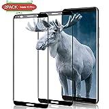 Aonsen Huawei Mate 10 Pro Panzerglas Schutzfolie [2 Stück], HD Displayschutzfolie Folie [Blasenfreie] [Nicht Panzerglas Folie] - Schwarz