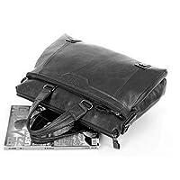 فنكي بولو حقيبة جلد للرجال - اسود - حقيبة عمل