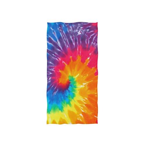 genbogen Tie Dye Handtuch Strandhandtuch, Leicht, Weich Microfaser Badetücher, Dekoration Hand Handtücher für Küche Zuhause Bad Spa Fitnessstudio Hotel (76 x 38 cm) ()